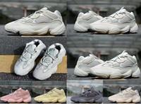 2019 Meilleure Qualité Kanye West 500 Desert Vague Mauve chaussures de créateurs Rat hommes femmes être vrai 500s chaussures tn club sportif en plein air Chaussures de course