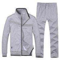 Беговая одежда новое поступление бренд мужской спортивный костюм открытый летний беговые наборы фитнес куртка + брюки Мужские наборы плюс размер L-4XL 75wy