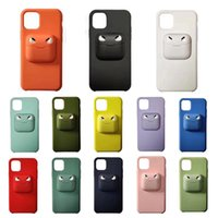 2 In 1 Cell Phone Case Earphone Storage Box for iPhone 11 Pr...