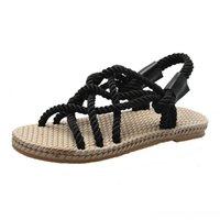 AKEXIYA сандалии Женская обувь плетеная веревка с традиционным повседневным стилем и простым творчеством модные сандалии женская летняя обувь