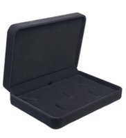 17x12x3.5cm caja de regalo caja de regalo collar de la joyería del terciopelo para el conjunto de almacenamiento de exhibición de joyería envío más color para la opción gris oscuro
