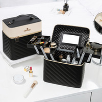 كبير ماكياج القدرات الأزياء حقيبة أدوات الزينة التجميل صندوق التخزين المحمولة المكياج حقيبة