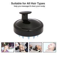 Silikon Saç Fırçası Şampuan Saç Derisi Fırçası Tarak Başkanı Spa Zayıflama Masaj Fırçalar Duş Banyosu Vücut Saç Yıkama Tarak Saç fırçası