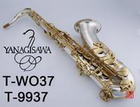 Yeni Tenor Sax Yanagisawa T-WO37 Tenor Saksafon Müzik Aletleri Bb Ton Nikel Gümüş Kaplama Tüp Altın Anahtar Sax ile Vaka Mouthpiec