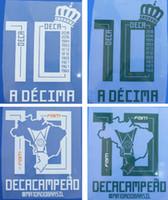 Les championnats Palmeiras SP 10 ont impressionné les jeux de football Un joueur de DECIMA DECACAMPEAO a imprimé des lettres de football marquant à chaud des polices de caractères en plastique