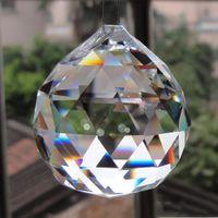 New Wunderbares hängend freie Kristall-Kugel-Bereich Prism Anhänger Spacer Perlen für Home Hochzeit Glaslampe Kronleuchter Dekoration