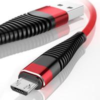 USB مرنة كابلات عالية الشد 2A شحن الحبل النايلون البيانات جديلة نوع C-كيبل للكابلات الروبوت سامسونج هواوي شاحن مزامنة 1M