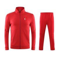 Turquía Equipo de fútbol nuevo elegante personalizado para hombre con cremallera con cremallera de algodón a granel de sudor traje de chándal fashional ropa de jogging