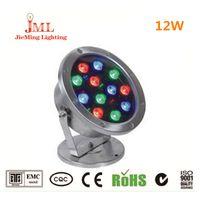 أضواء بركة JML للأعلى برميلات سباحة 12W 12V أضواء LED في الهواء الطلق IP68 الإضاءة للماء 304 الفولاذ المقاوم للصدأ مصباح
