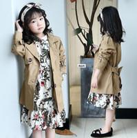 Autunno nuove ragazze e giacche per bambini nel trench coat monopetto slim monopetto per bambini