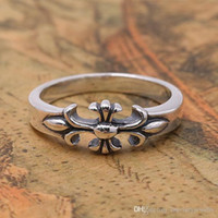 A estrenar 925 joyería de plata antigua de plata estilo americano hecho a mano anillos de diseñador anillo de banda cruzada para hombres mujeres venta caliente