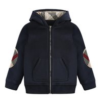 Autumn and winter new cotton boy lapel zipper thick warm hoo...