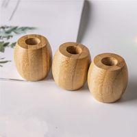 Titular de cepillo de dientes de bambú natural Biodegradable Madera de madera Cepillo Base Base Baño Soportes Soportes Eco Friendly 1 95CD E1
