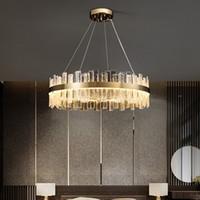 K9 크리스탈 샹들리에 골드 샹들리에 조명 교수형 램프 크리스탈 광택 주방 아일랜드 LED가 실내 전등을 점등