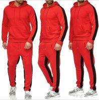 New automne pantalons de survêtement joggers de veste de Hoodie d'hiver à capuche hip-hop homme de survêtements d'impression