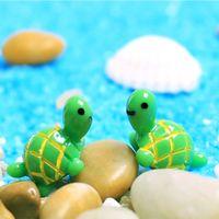 artificiali cute animals tartaruga verde fata giardino miniature gnomi muschio terrari resina artigianato statuine per la decorazione del giardino