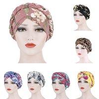Perdita di donne musulmane elastico stampato Trecce turbante del cappello dell'involucro della testa dei capelli di copertura Cancer Chemo Lady Hat Cap arabo Foulard Bonnet Beanie