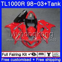 + Tank voor Suzuki Srad TL 1000 R TL1000R 98 99 00 01 02 03 304HM.2 TL1000 R TL 1000R Glanzend rood Hot 1998 1999 2000 2001 2002 2003 Valerijen