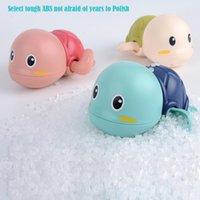 Cartoon Schwimmen Schildkröte Aufzieh-Spielzeug, Baby-Bad-Dusche-Begleiter spielt in Wasser Uhr Arbeits Spielzeug, 3 Farben, für Weihnachten Kid Geburtstags-Geschenke, 2-2