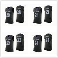 Kansas State Wildcats Faculdade # 20 Xavier Sneed # 21 James Love III # 23 Amaad Wainright # 24 Pierson McAtee Basketball Jerseys Mens costurado