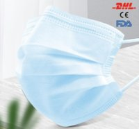 DHL Ship 12 Hour Disposable face Masks Adult Protection 3 pl...