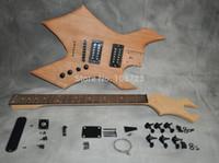 DIY электрогитары Kit Mahogany Body Maple Neck палисандр Накладка