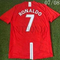 Top 2007/2008 Retro Soccer Jerseys Vintage Classic Ronaldo 7 Rooney 10 Scholes 18 Ferdinand 5 Camisa 2010/11 Fußball Hemd Kits Camiseta Futbol Shirts MAILLOT DE 2009