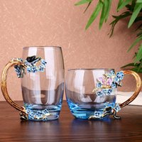 crystal Water Milk Coffee Mugs Heat Resistant Novelty Glass ...