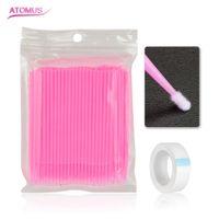 Extension de cils Micro Kit de pinceau Applicateur jetable Baguettes de mascara Ruban de cils Cils individuels Fournir un outil de beauté