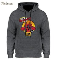 Hoodie Mens I Am The Night Hoodies Funny Dead Pool Hooded Sw...