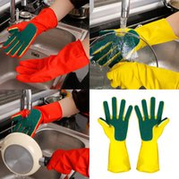 Kitchen Cleaning Gloves Home Washing Spone Cleaning Gloves S...