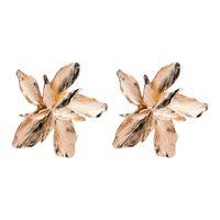 Big Star Серьги Золото Цвет Цветок Мода Женские Серьги Шпильки 2020 Металлические Сладкие Услуги Ювелирные Изделия