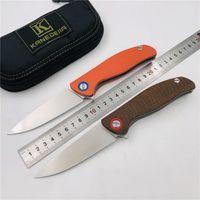 Kanedeiia Barbatana F3 dobrar titânio faca de lâmina D2 + Mikata G10 bolso identificador de campismo caça sobrevivência fruta facas ferramentas EDC