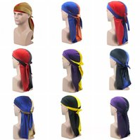 Mens Velvet Durags Bandana Turban Hat per le donne Parrucche Doo Double Colors Durag Biker Headwear Fascia per capelli Pirate Hat Du-RAG cosplay hat