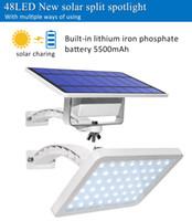 48 LED تعمل بالطاقة الشمسية المصابيح الشمسية للماء في الهواء الطلق حديقة ديكور الأمن الجدار الخفيفة 18W ضوء الشارع مصباح الفيضانات