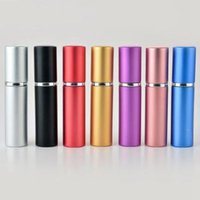 Perfume Bottle 5ml Aluminium Anodized Compact Perfume Afters...
