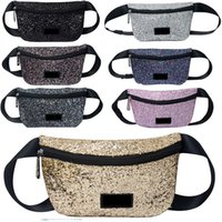 Shiny Sequin Pink Letter Waist Bag Glitter Fanny Pack Beach ...