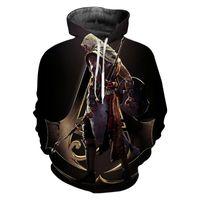 Новая Мода Толстовка Assassins Creed 3D Печати Толстовки Одежда Игры С Длинным Рукавом Новинка Уличная Одежда С Капюшоном Груза падения