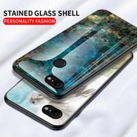 Mermer temperli cam Telefon Kılıfı İçin Google Piksel 3A 3A XL 4A 4 3 XL 2XL OnePlus 8 7 Pro 7T 6T 6