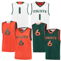 New Arrival. Custom Miami Hurricanes College Basketball Stitched Any Name  Number Green Orange White 4 Lonnie Walker IV 0 Chris Lykes Jerseys ... 36b17e1be