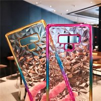 for Huawei p8lite2019 p9lite p20 mobile phone case with colorful crystal gradient TPU diamond plating diamond soft shellfor Huawei tide