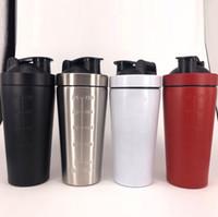 25 أوقية خلاط زجاجة المياه الفولاذ المقاوم للصدأ البروتين مسحوق شاكر اللياقة التخييم الرياضة شرب زجاجات المياه