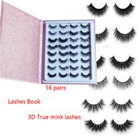 Nuovo stile visone popolare Lashes seta ciglia 3D cigli del visone 25 millimetri 16 paia ciglia libro spesso lunghe ciglia ciglia finte ciglia contenitore di libro