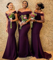 Latest Elegant Off The Shoulder African Bridesmaid Dresses 2...