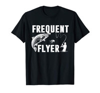 Tee shirts homme Frequent Flyer Shirt Fly Lures Fishing T- Sh...