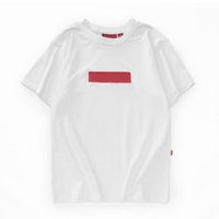 Mens Designer T Shirts Box Embroidery Printed Short Sleeve Tees 9 Colors Street Style Brand Couple Tops