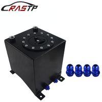 RASTP-Alta calidad Nuevo Universal 10L Aluminio Tanque de aumento de combustible Espejo Pulido Celda de combustible sin sensor Negro RS-OCC021
