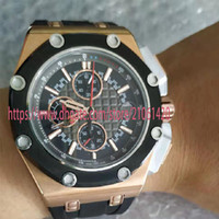 High- end Luxury Watch ROYAL OAK Series 18k Rose Gold 44mm Mu...