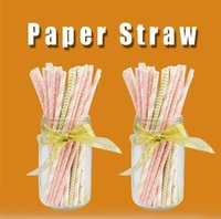 Paper Straw Environmental Colorful Paper Straw Straight 200s...
