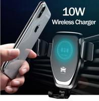 سيارة جبل 10W تشى شاحن لاسلكي لفون XS ماكس X XR 8 حامل الهاتف المحمول اللاسلكية شحن سريع للسيارات لسامسونج ملاحظة 9 S9